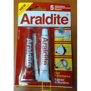 Lem Epoxy Araldite Rapid 5 Menit merah